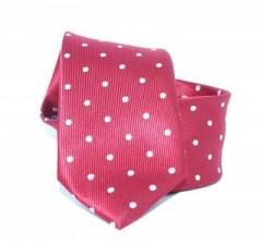 Goldenland slim nyakkendő - Pink-lazac pöttyös