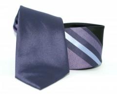 Goldenland slim nyakkendő - Lila csíkos