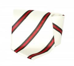 Goldenland nyakkendő - Ecru-piros csíkos