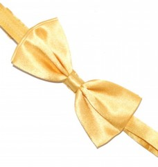 Szatén csokornyakkendő - Aranysárga