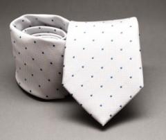 Prémium nyakkendő -  Fekete-kék pöttyös