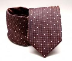 Prémium nyakkendő -  Barna pöttyös