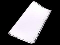 Díszzsebkendő - Fehér-csipke