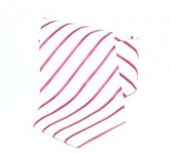 Goldenland nyakkendő - Fehér-pink csíkos