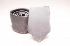 Prémium selyem nyakkendő - Ezüst aprópöttyös