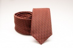 Prémium slim nyakkendő - Rozsdabarna mintás Kockás nyakkendők