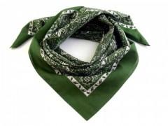Kázsmér mintás kendő - Zöld