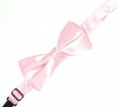 Gyerek szatén csokornyakkendő - Rózsaszín
