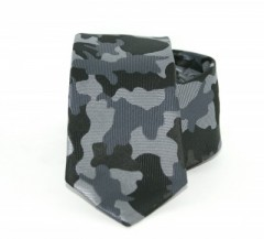 Goldenland slim nyakkendő - Szürke terepmintás