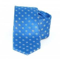 b4e850d090 Goldenland slim nyakkendő - Tengerkék mintás