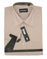 Goldenland rövidujjú ing - Drapp-Púder Normál fazon
