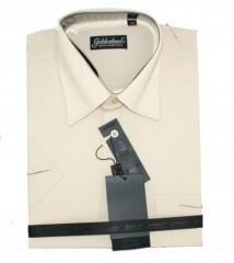 Goldenland rövidujjú ing - Világosdrapp Normál fazon