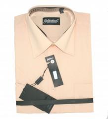Goldenland rövidujjú ing - Halványbarack Normál fazon