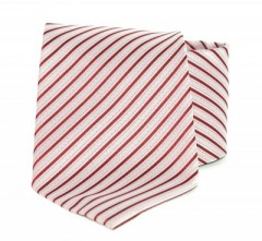 Goldenland nyakkendő - Meggybordó-púder csíkos