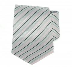 Goldenland nyakkendő - Szürke-rózsaszín csíkos